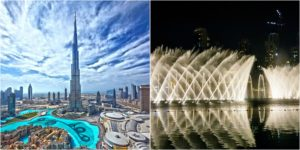 Бурж халифа и фонтаны