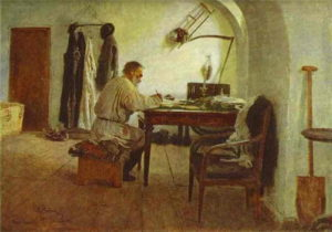 Репин-И_Е_-Лев-Толстой-в-комнате-под-сводами-1891